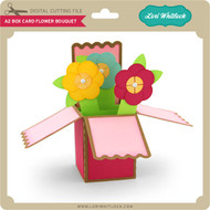 A2 Box Card Flower Bouquet