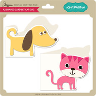 A2 Shaped Card Set Cat Dog