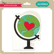 Shaped Card Globe
