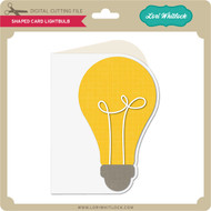 Shaped Card Lightbulb