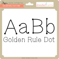 Golden Rule Dot Font
