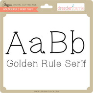 Golden Rule Serif Font