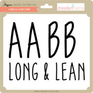 Long and Lean Font