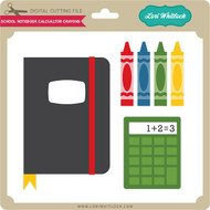 School Notebook Calculator Crayons