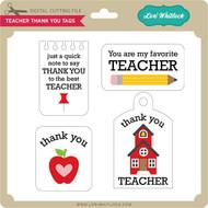 Teacher Thank You Tags