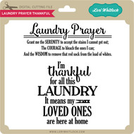 Laundry Prayer Thankful