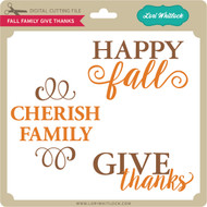 Fall Family Give Thanks