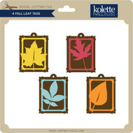 4 Fall Leaf Tags