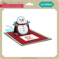 Slider Window Card Snowman