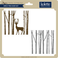 Birch Tree Deer Set