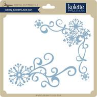 Swirl Snowflake Set