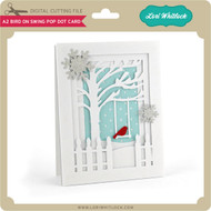 A2 Bird On Swing Pop Dot Card