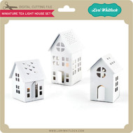 Miniature Tea Light House Set