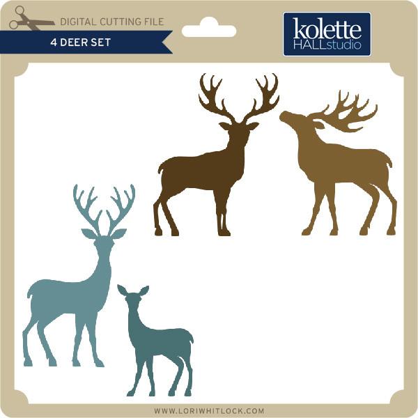 4 Deer Set Lori Whitlock S Svg Shop
