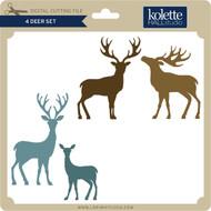 4 Deer Set