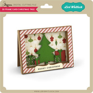 3D Frame Card Christmas Tree
