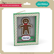 3D Frame Card Gingerbread