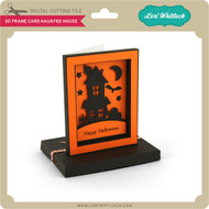 3D Frame Card Haunted House