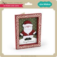 3D Frame Card Santa
