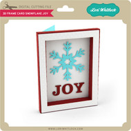 3D Frame Card Snowflake Joy