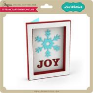 3D Frame Card Snowflake Joy