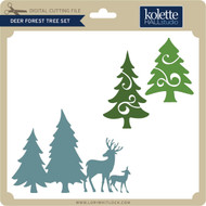 Deer Forest Tree Set
