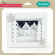 5x7 Shadow Box Card Deer Hills