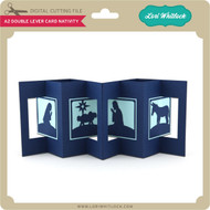 A2 Double Lever Card Nativity