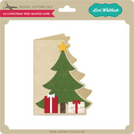 A2 Christmas Tree Shaped Card