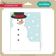 A2 Snowman Card