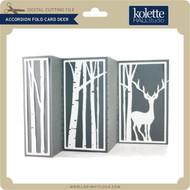 Accordion Fold Card Deer
