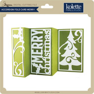 Accordion Fold Card Merry