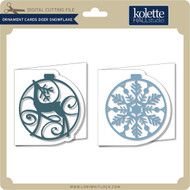 Ornament Cards Deer Snowflake