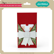 Gift Card Holder Wrap with Bow
