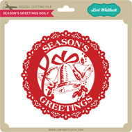 Season's Greetings Doily