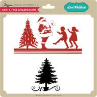 Santa Tree Children Art