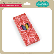 Heart Crayon Box 4 Pack
