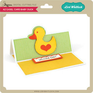 A2 Easel Card Baby Duck