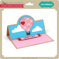 A2 Easel Card Hot Air Balloon