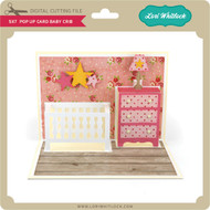 5x7 Pop Up Card Baby Crib