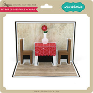 5x7 Pop Up Card Table Chairs