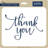 Cursive Thank You Phrase