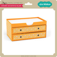 2 Drawer 3x5 Holder with Base