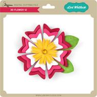 3D Flower 12