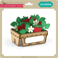 Box Card Strawberry Carton