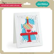 A2 Pop Dot Card Cupcake