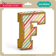 3D Alphabet Letter F