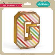 3D Alphabet Letter G