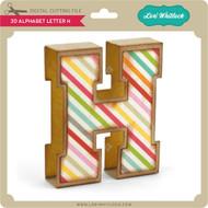 3D Alphabet Letter H