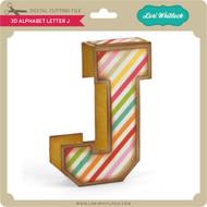 3D Alphabet Letter J